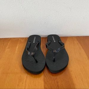 Coach Abbigail Black Flip flops NEW